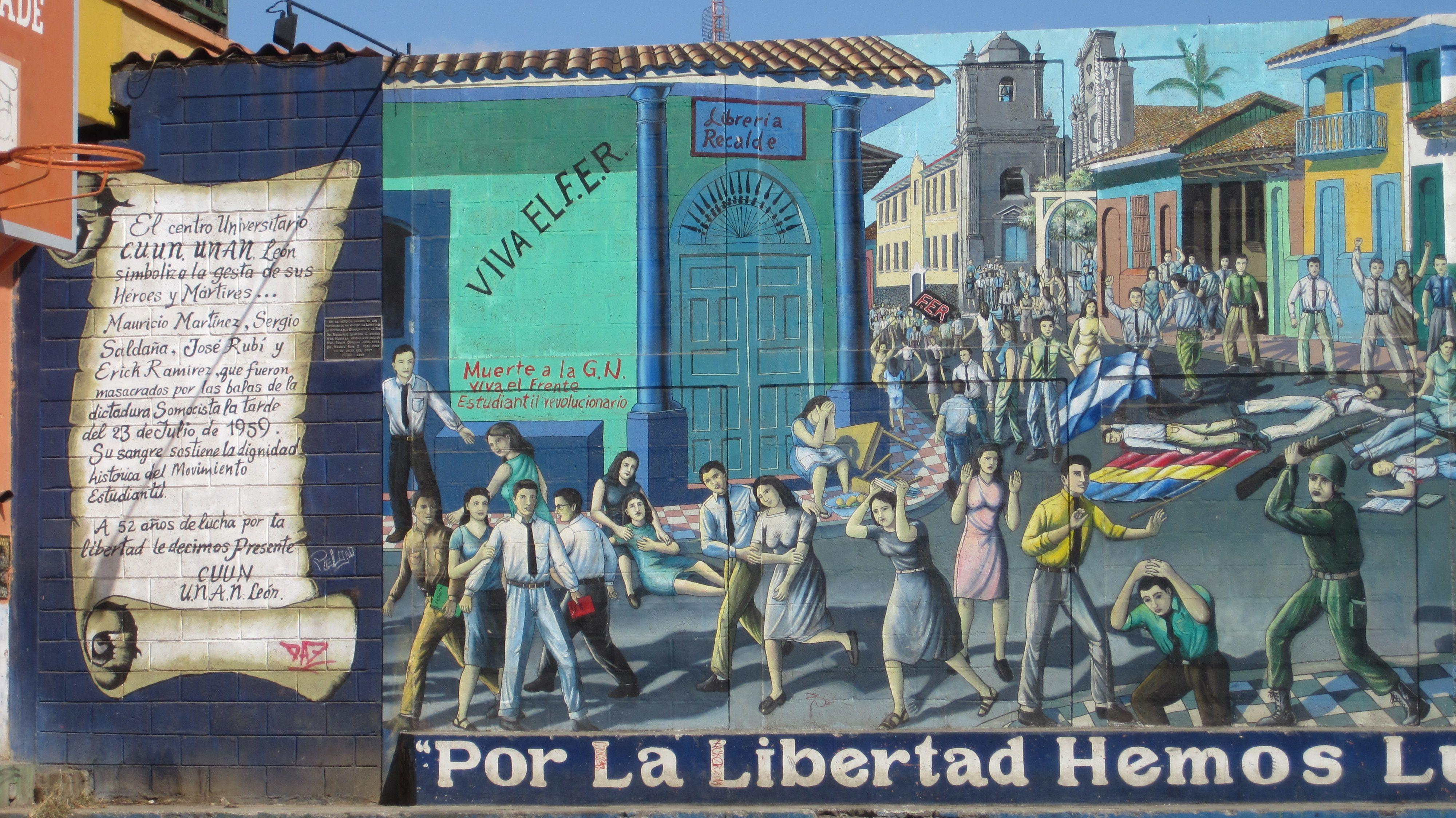 leon art mural nicaragua typography graphic design