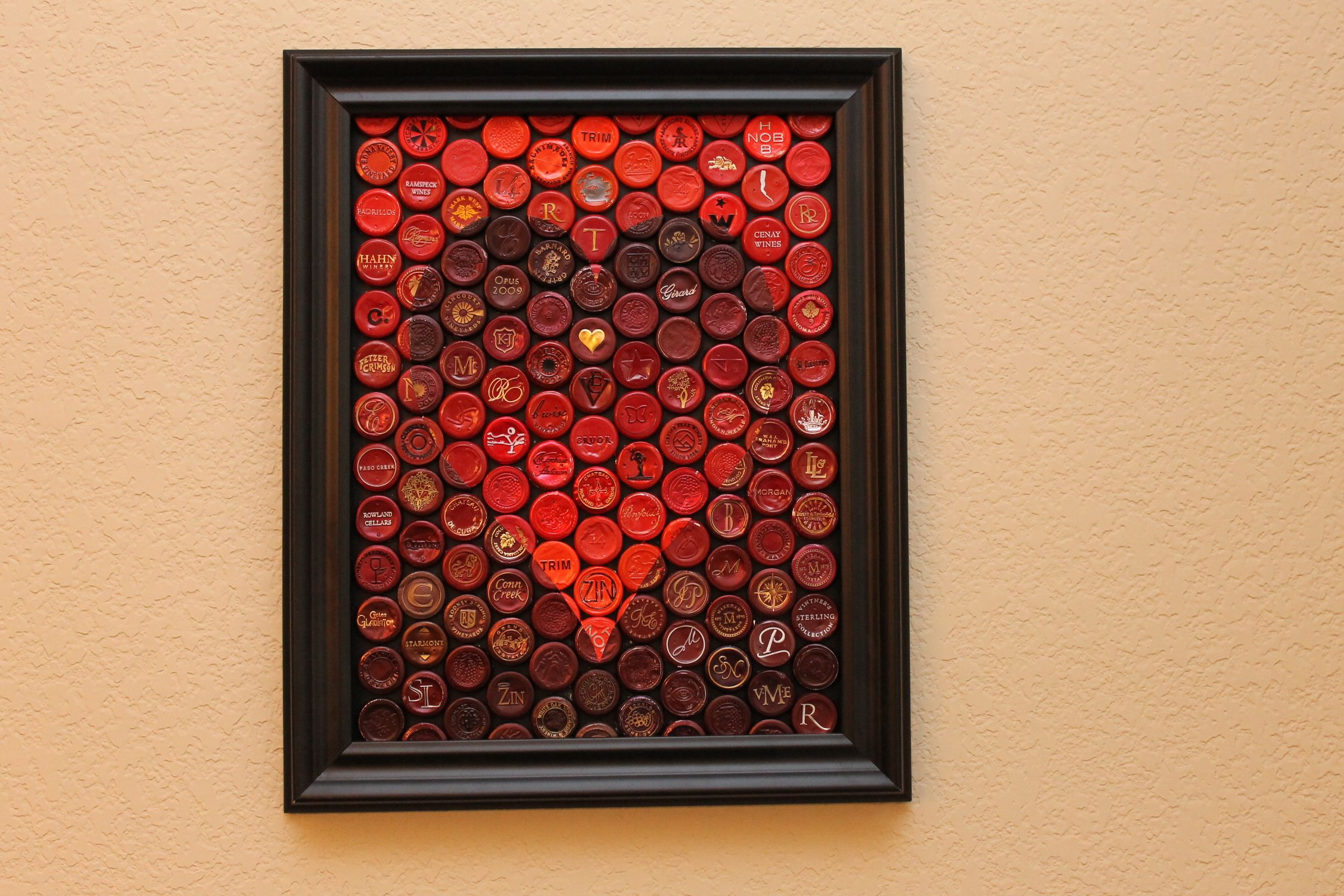Wine Foil Art From Wine Foil Mosaics Wine Label Collage Wine Cork Crafts Wine Crafts Projects