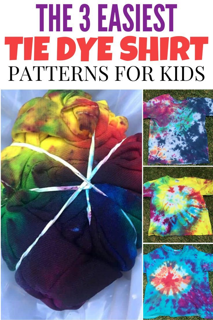 How to Tie Dye Shirts With Kids The 3 Easiest Tie Dye