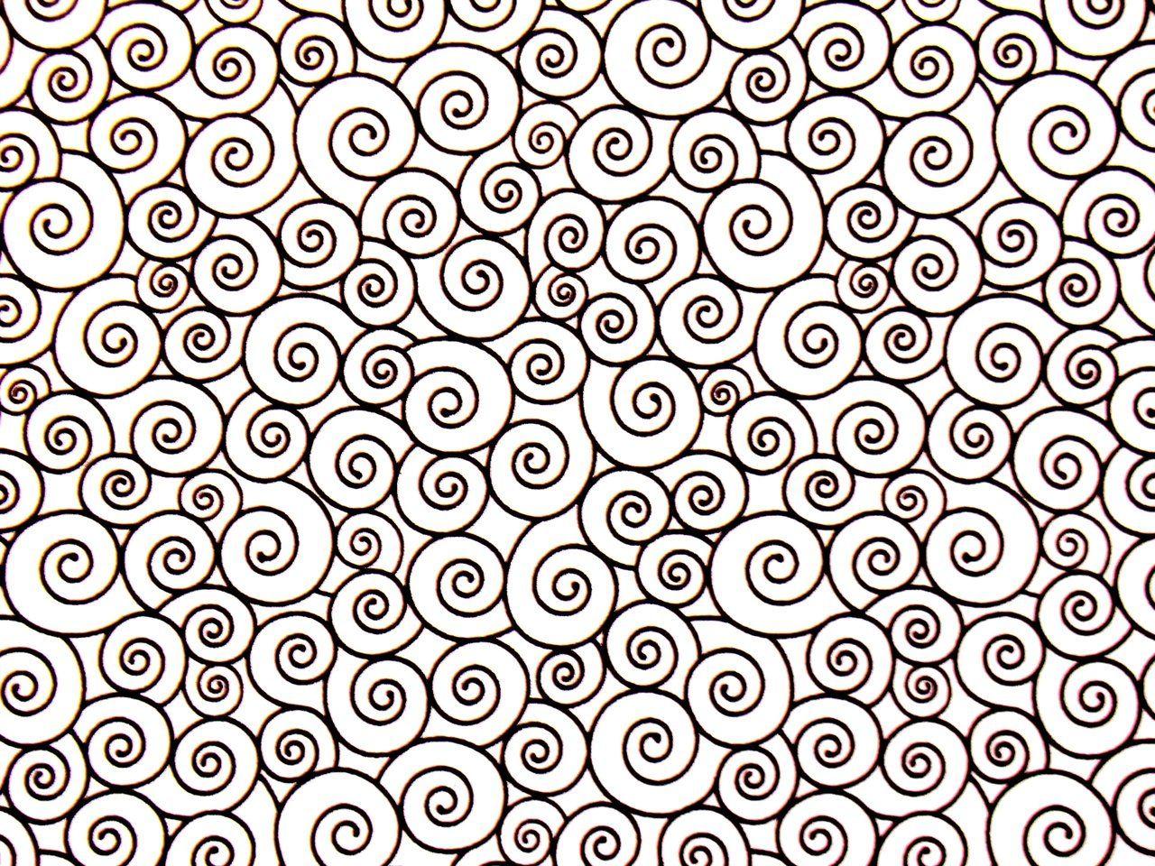 Patchworkstoff Harmony Comic Muster Kringel Schwarz Weiss 11