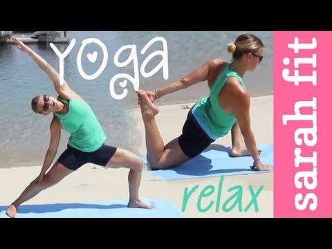 beginners yoga workout at the beach  youtube  beginner