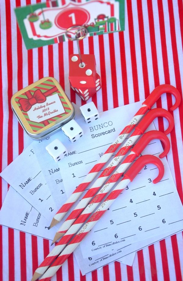 Superb Bunco Christmas Party Ideas Part - 11: Fun Holiday Bunco Party Ideas - Ideas On DIY Decorations, Printabels, Game  Table Decor, Food And Favors For A Adult Or Family Celebration!
