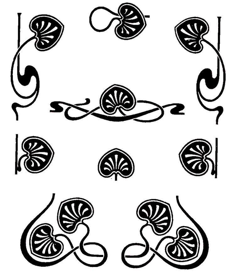 r sultat de recherche d images pour motifs floraux art d co arts rh pinterest com art nouveau clipart free download art nouveau clip art free