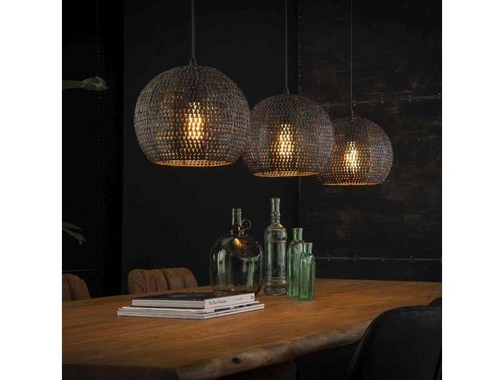 LED Kugel Decken Lampe Rattan Hänge Beleuchtung Wohn Zimmer Pendel Leuchte braun