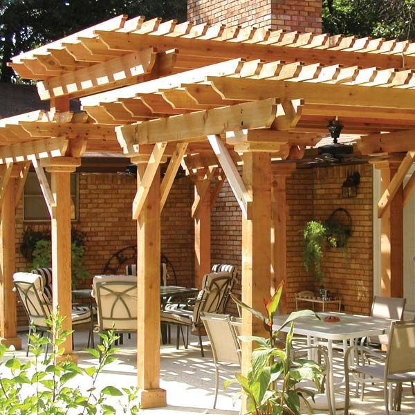 Do It Yourself Home Design: A Stunning Design, This Three-tiered Pergola Truly Makes A