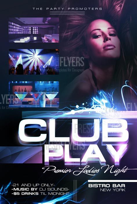 Httpfreepsdflyerfree Club Party Flyer Template