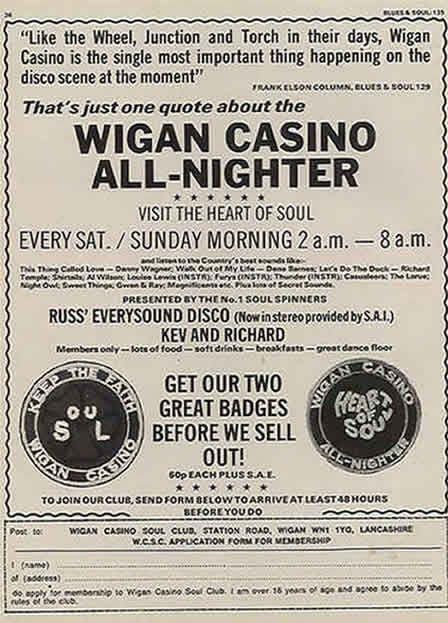 Wigan casino posters the virtual casino codes