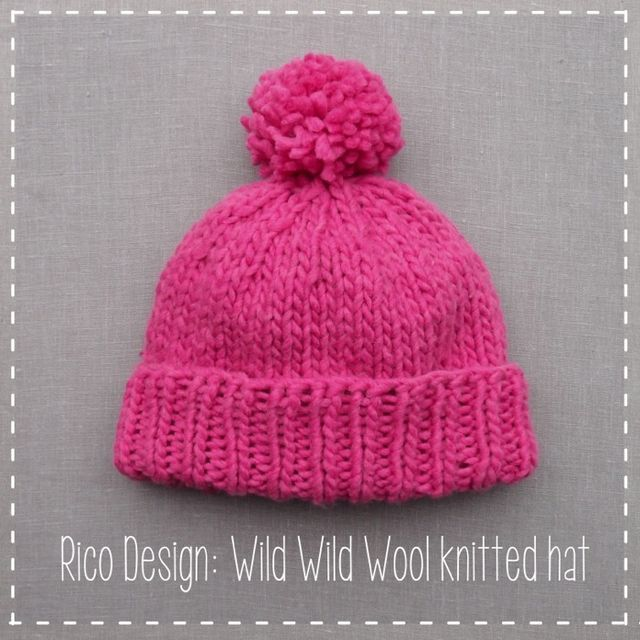 Rico Design Knit A Hat From One Ball Of Yarn The Homemakery Blog Knitting Yarn Hat Knitting Patterns Free
