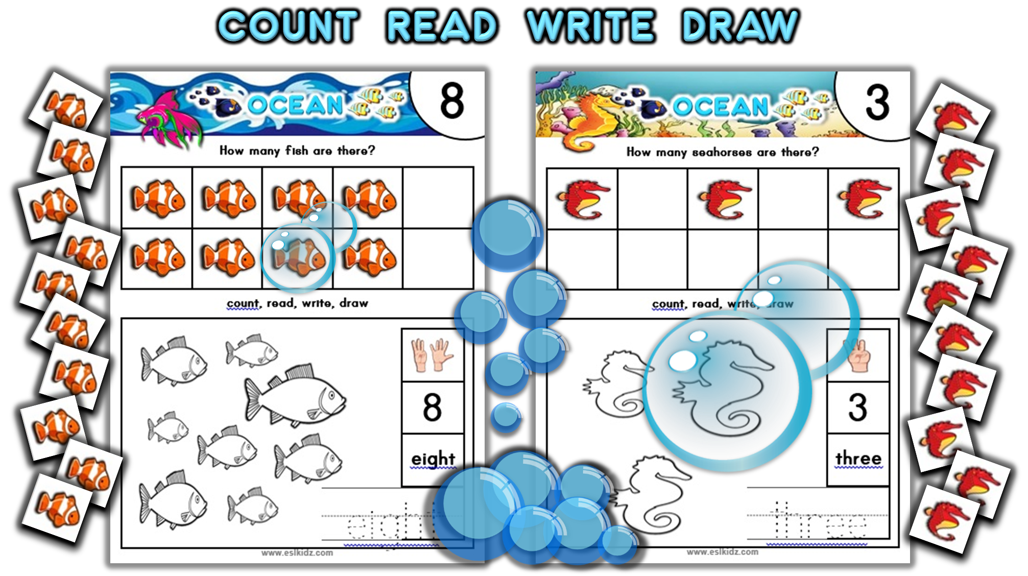 Ocean Counting Number Activity Set