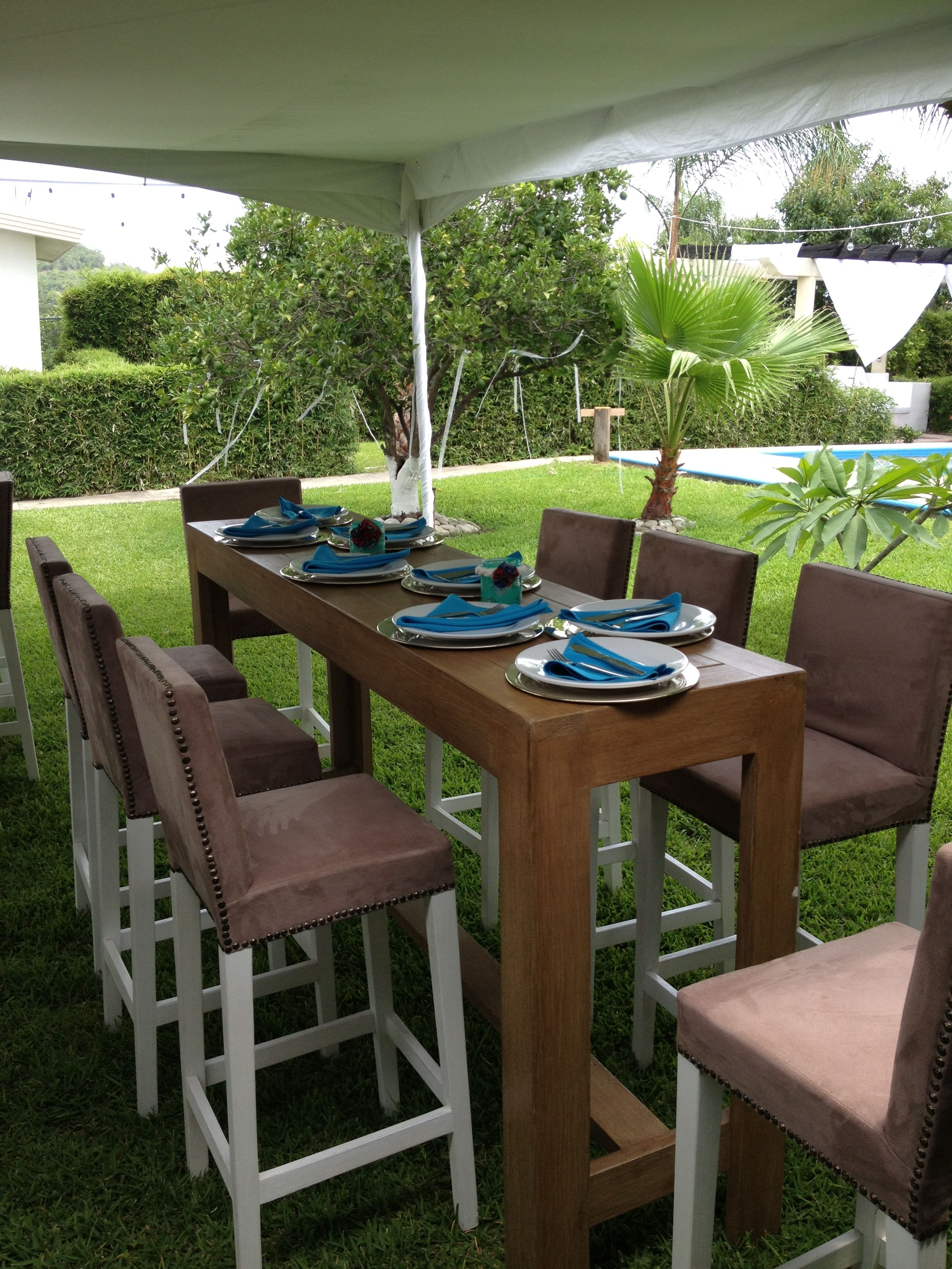 Mesa alta para eventos comodas sillas altas comedores pinterest mesas mesa alta y mesas altas - Sillas altas de cocina ...