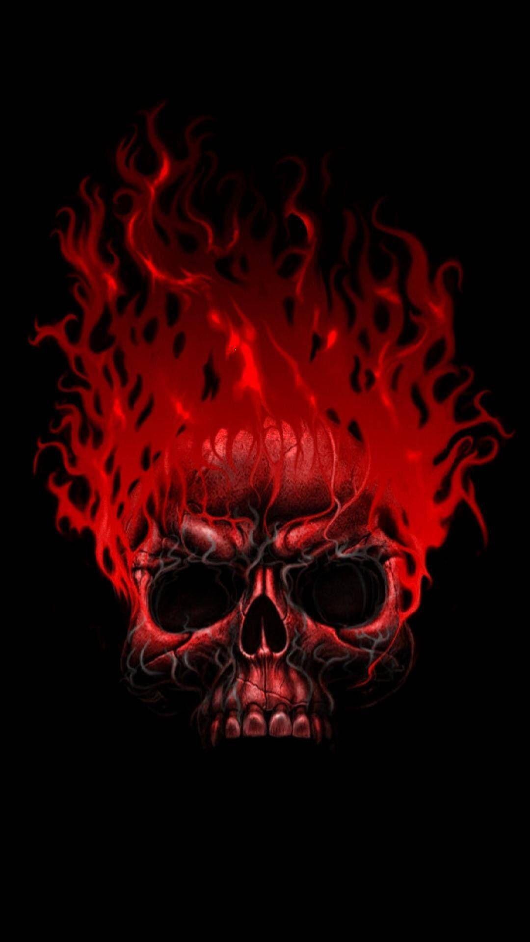 Fire Skull Skull Wallpaper Skull Artwork Skull