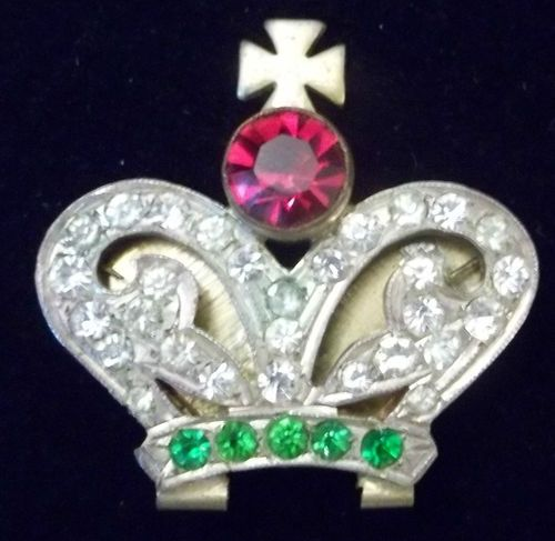 Vintage Art Deco Rhinestone Crown Brooch Buckle Finding Clip Very Early Ebay Rhinestone Crown Vintage Art Deco Vintage Costume Jewelry