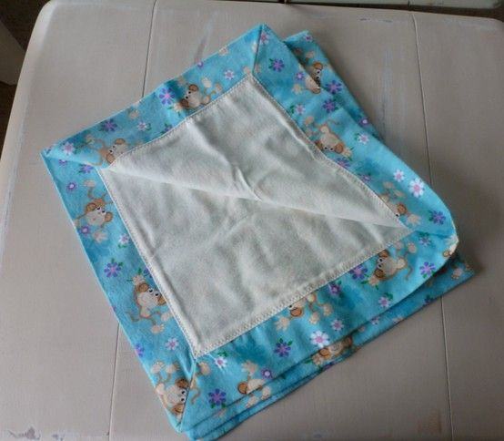 Another Self Binding Receiving Quilt. These Are Weird To