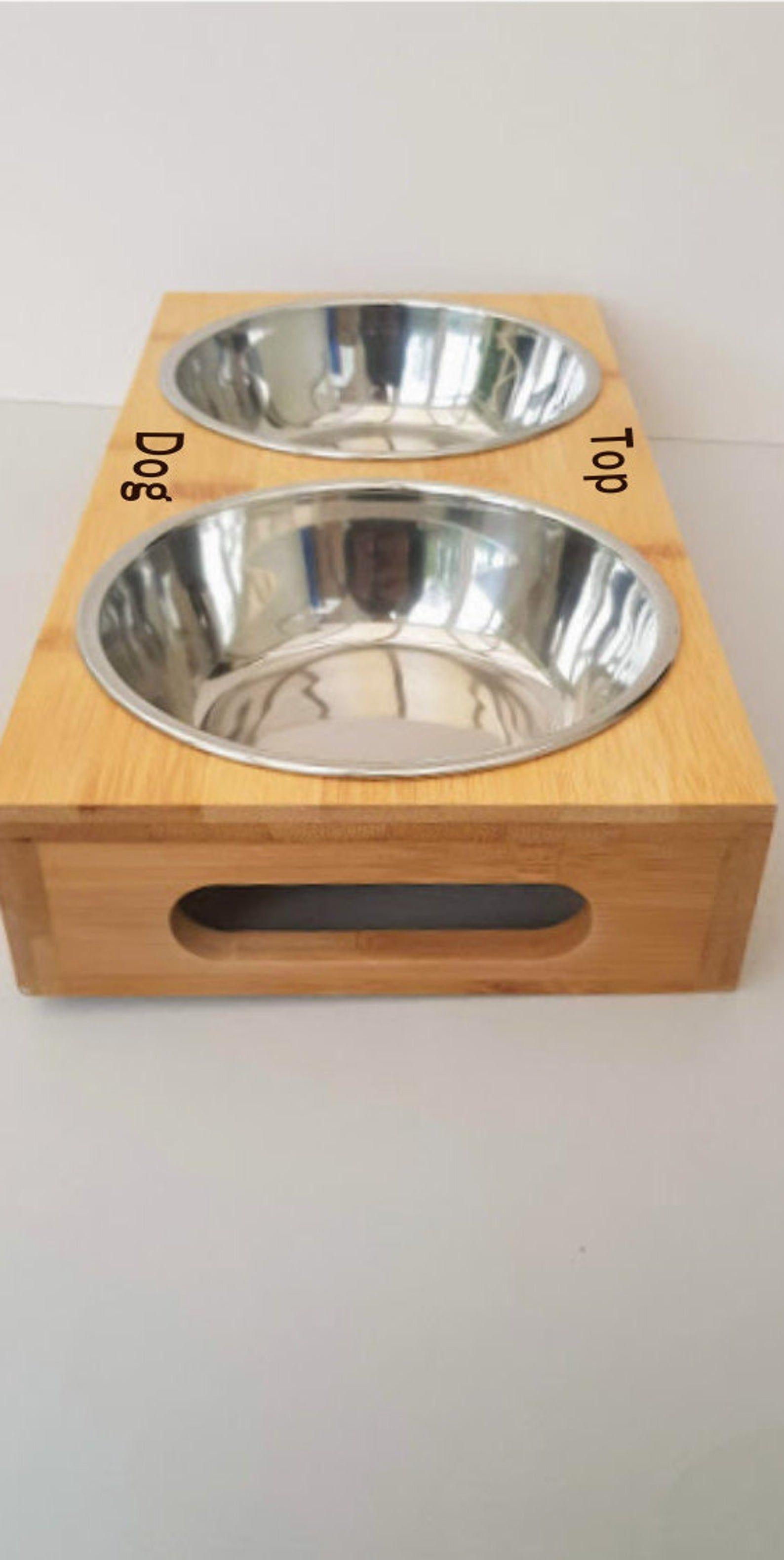 Personalised Dog Bowl And Holder Double Dog Bowls Pet Feeding Bowl Cat Feeding Bowl Engraved Pet Bowl Holder Personalized Dog Bowls Dog Bowls Pet Bowls