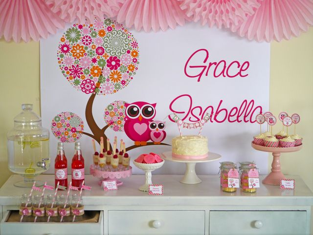 Owl Baby Shower Quot Look Whooo S Having A Girl Quot Barty S