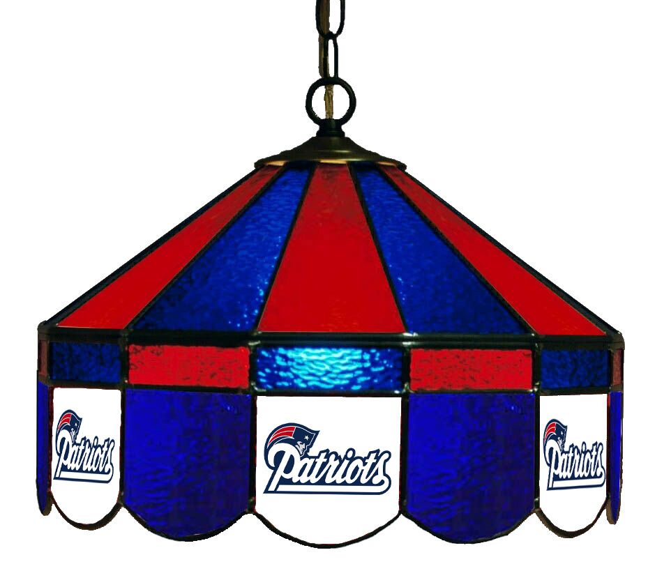 New England Patriots Stained Glass Pub Lamp #NFL serenityhealth.com