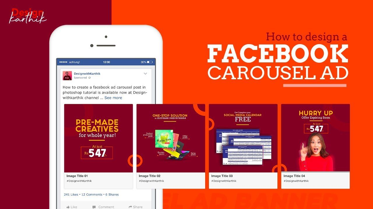 Facebook Carousel Post Design Photoshop Slider Post Design Facebook Ads Design Instagram Advertising Post Design
