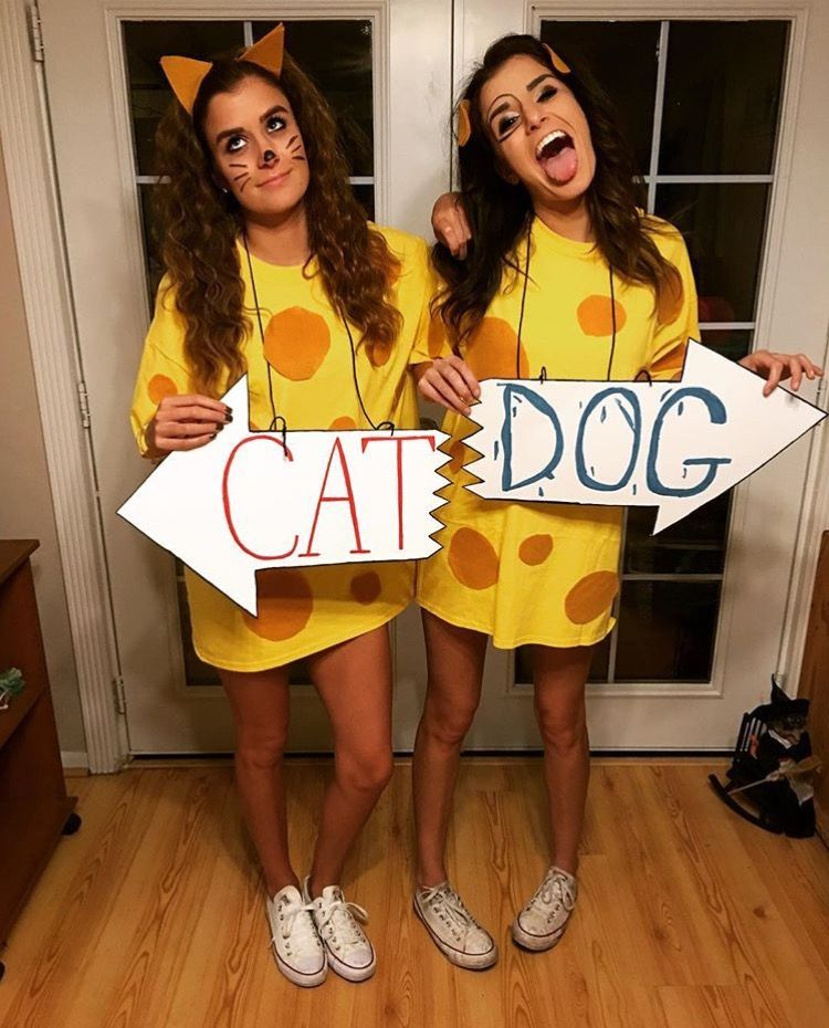 Catdog Costume Cartoon Halloween Costumes Best Friend Halloween