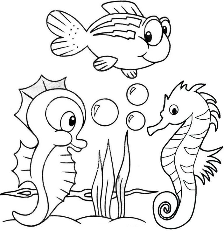 Cute Baby Seahorse Coloring Page In 2020 Animal Coloring Pages Detailed Coloring Pages Coloring Pages