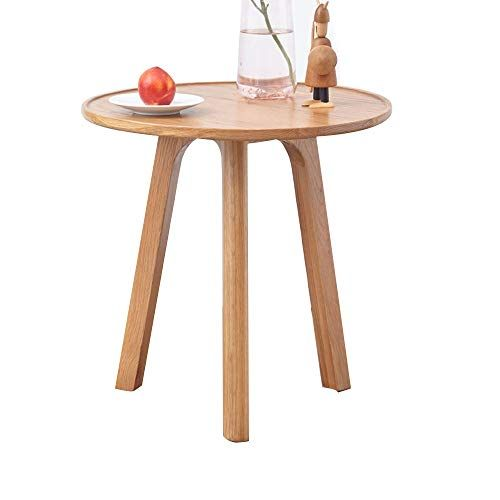 XBBZ All Solid Wood Side Table, White Oak Small Tea Table Living ...