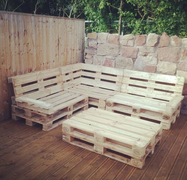 Pallet Corner Seat For Decking Area | Set de patio, Meuble ...