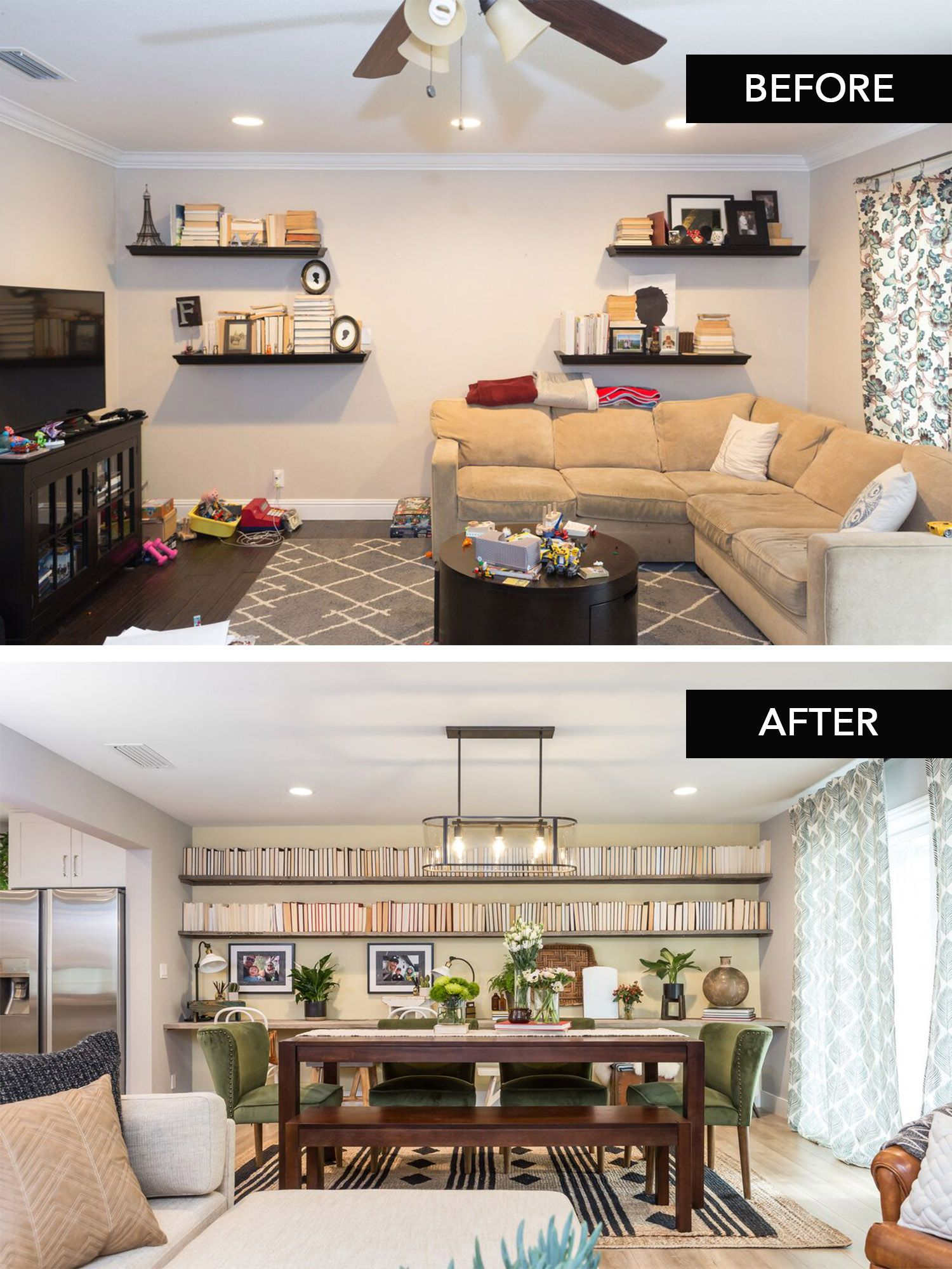 Colorful Home Makeovers From Property Brothers Buying Selling Property Brothers Living Room Hgtv Living Room Easy Home Upgrades