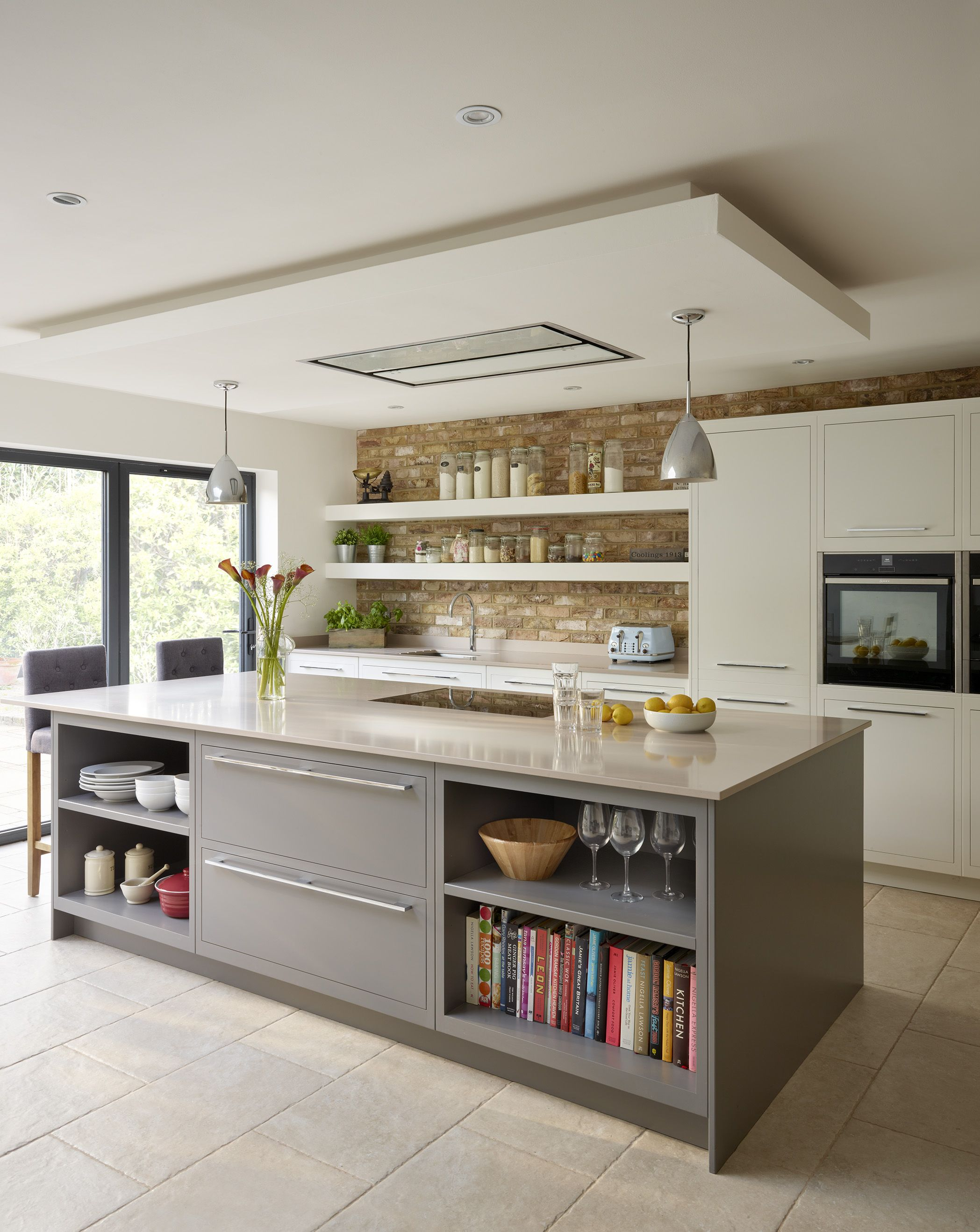 A Sleek Grey Kitchen Built Using Our Linear Furniture