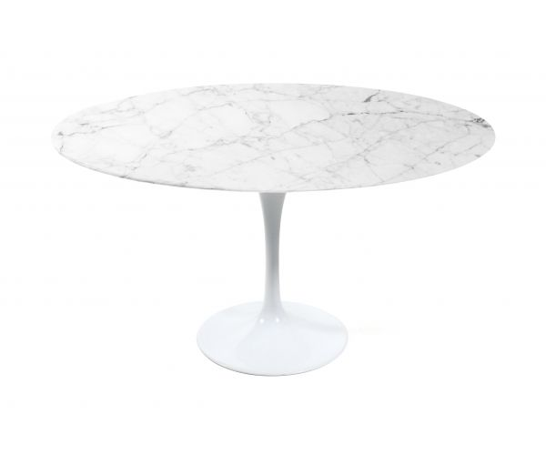 Tulip Table Round Carrara Tulip Table Marbles And Carrara Marble - Saarinen carrara marble table