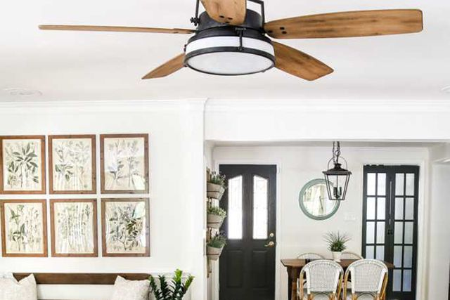 How To Remodel Your Mobile Home To Look Like A House Hunker Living Room Ceiling Fan Farmhouse Ceiling Fan Guest Bedroom Remodel