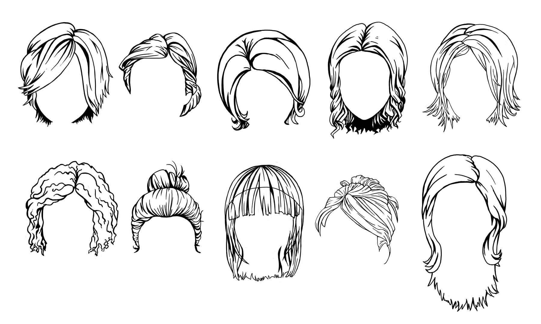 Hairstyle Sketches Http Www Tooncharacters Com How To Draw Hair Hair Sketch Fashion Illustration Hair