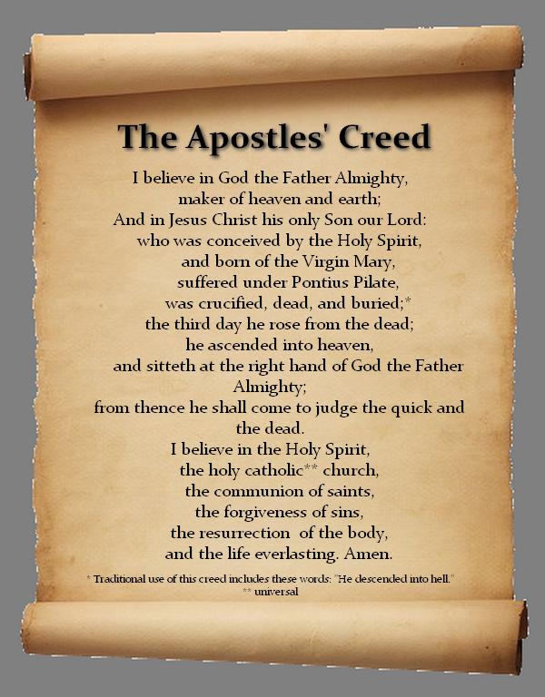 விசுவாசப் பிரமாணம் -VISUVASA PRAMANAM- THE APOSTLE'S CREED