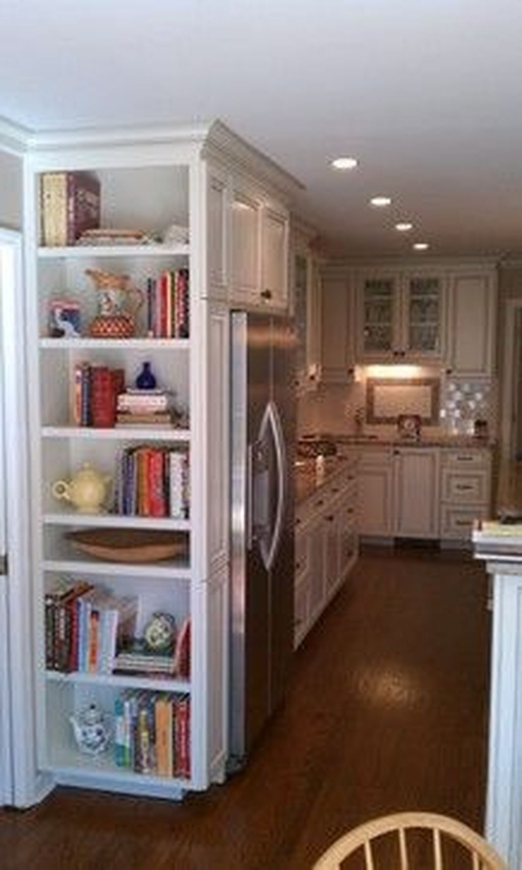 Awesome Open Shelving Bookshelves Ideas To Decorating Your Room 41 Kitchen Bookshelf Kitchen Cabinet Storage Kitchen Cabinets
