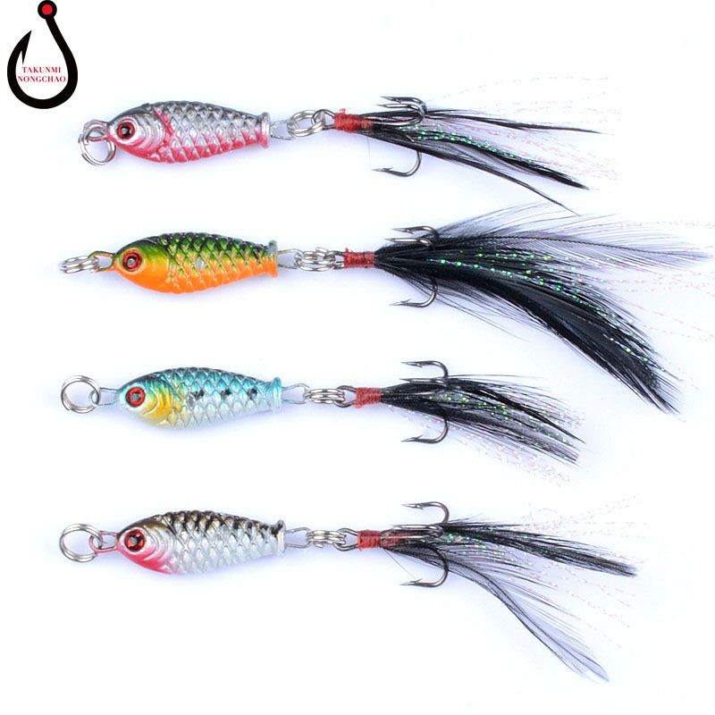 1PCS 4 Color Small Lead Fish 6g Metal Lure Fake Bait Fishing