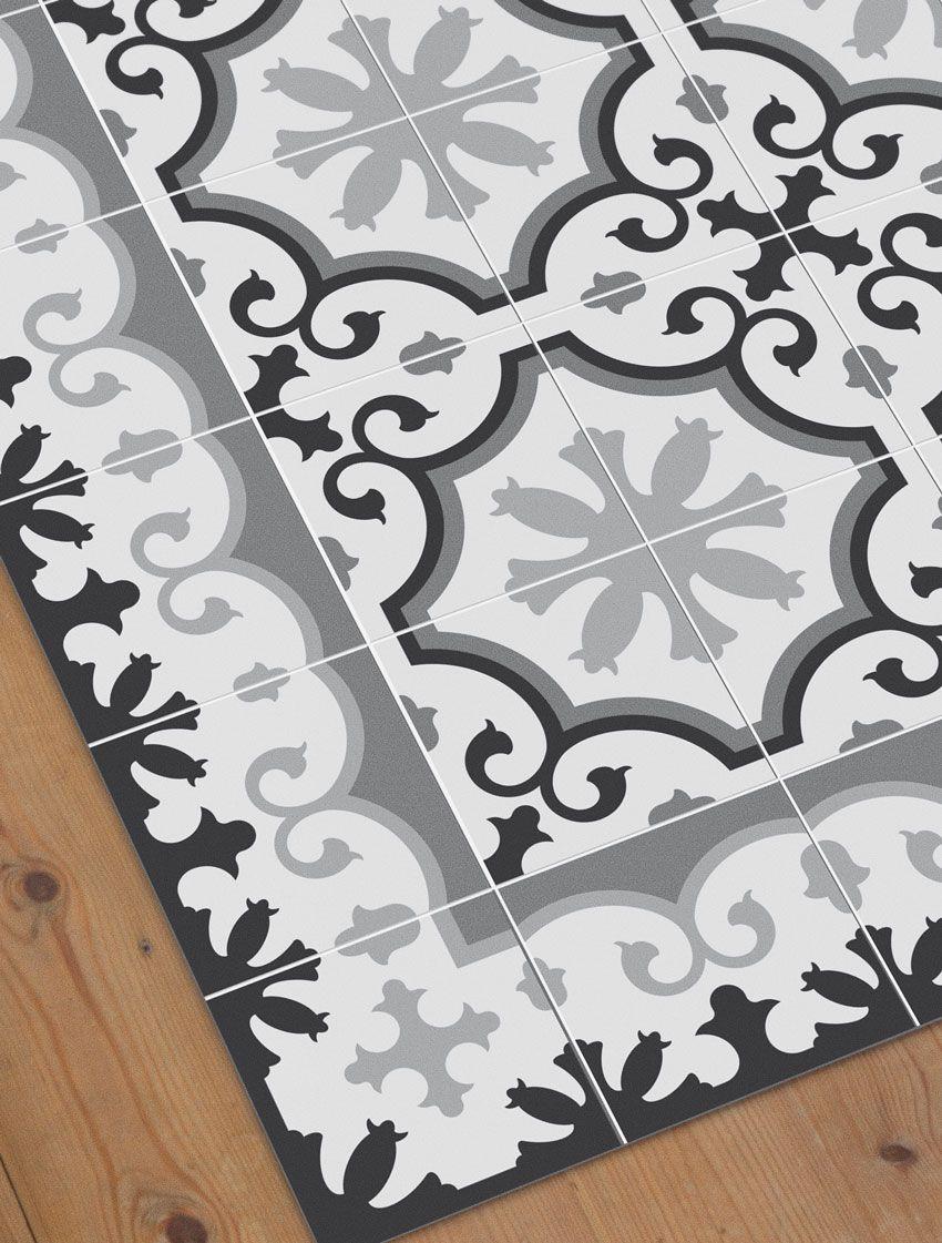 Alfombra avenir home decor alfombra hidraulica for Porcelanico imitacion baldosa hidraulica
