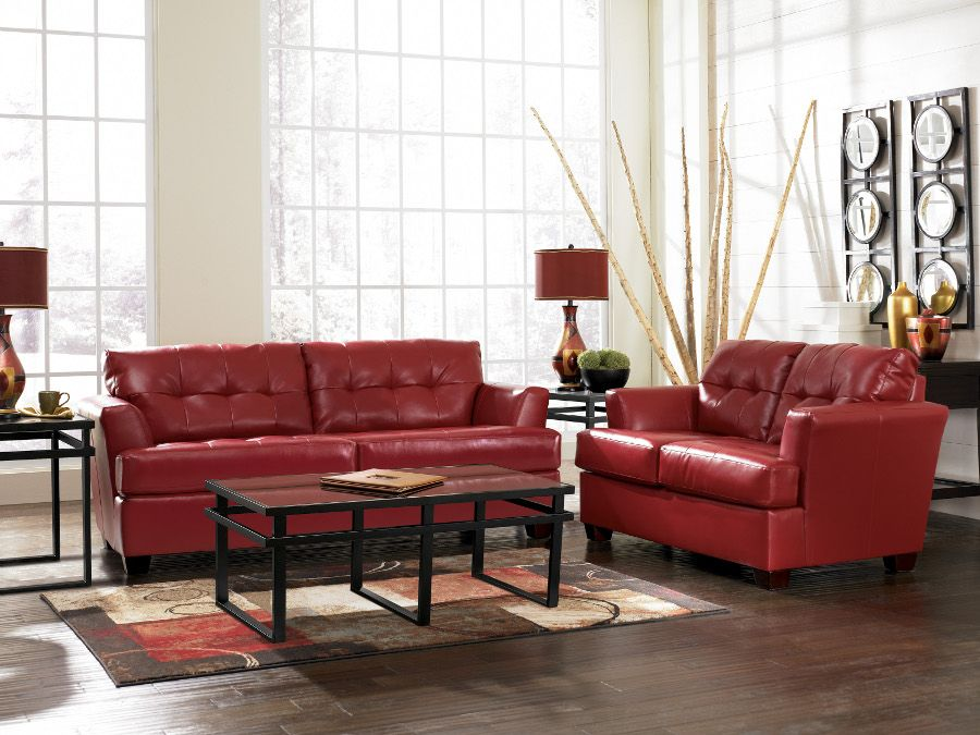 durablend scarlet sofa & loveseat #sofa #loveseat #livingroom