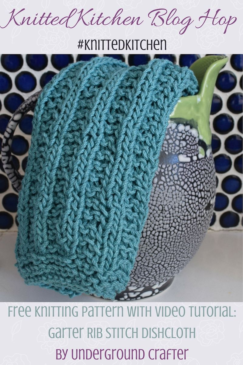 Garter Rib Stitch Dishcloth, free knitting pattern in Lion Brand 24 ...