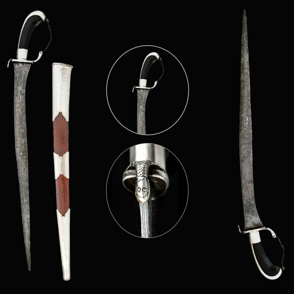 Exquisite Antique Pedang Lurus Sword Bendo Segodo Pamor Blade Keris Kris Ebay In 2020 Sword Antiques Blade