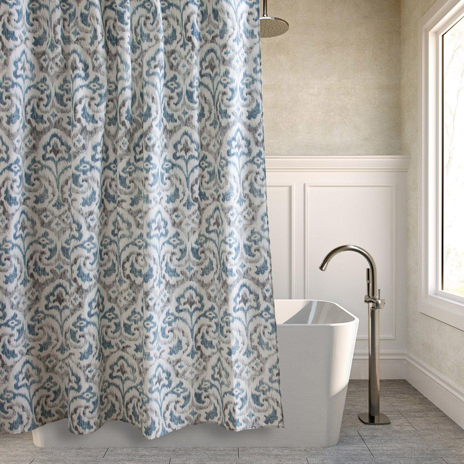 Tommy Bahama Cape Verde Cotton Shower Curtain Www Hayneedle Com Medallion Shower Curtain Cotton Shower Curtain Gray Shower Curtains