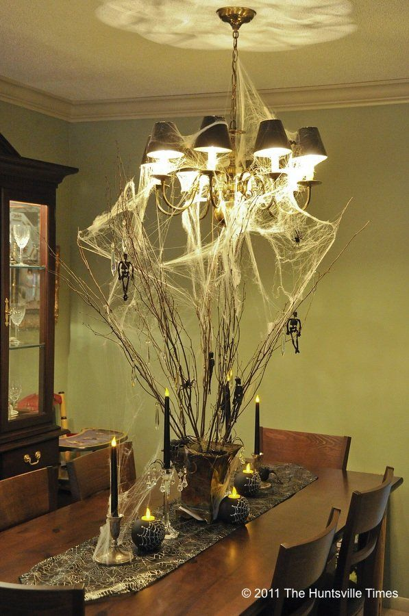 this is a cool idea if you decorate the inside of your house for halloween halloween table centerpiecescreepy