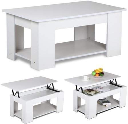 Yaheetech Lift Up Top Coffee Table With Under Storage Shelf Modern