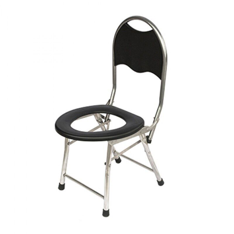 Cheap Simple Toilet Chair With Backrest Foldable Potty Chair Portable Mobile Toilet Seat For Elderly 150kg Bearing In 2020 Toilet Chair Potty Chair Bathroom Chair