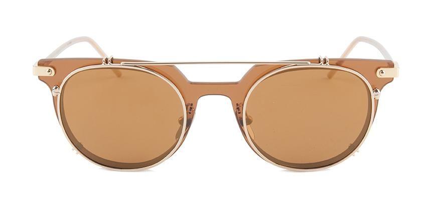 932905de199 Dolce Gabbana DG2196 Brown Gold   Gold Lens Mirror Sunglasses ...
