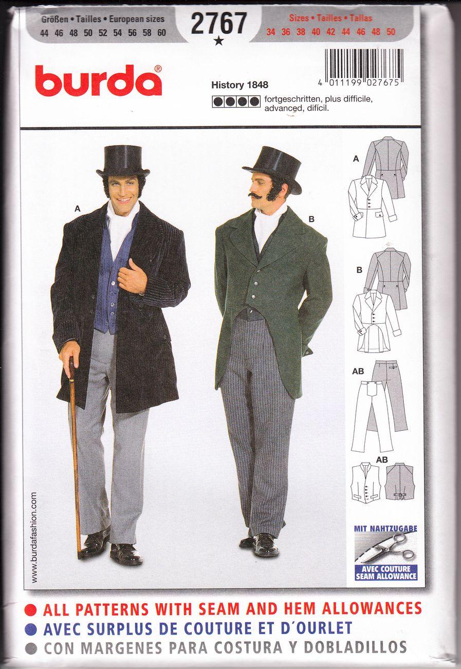 Men's 1848 Dickens Jacket, Vest, Pants Costume Pattern 34 ... | 897 x 1300 jpeg 194kB