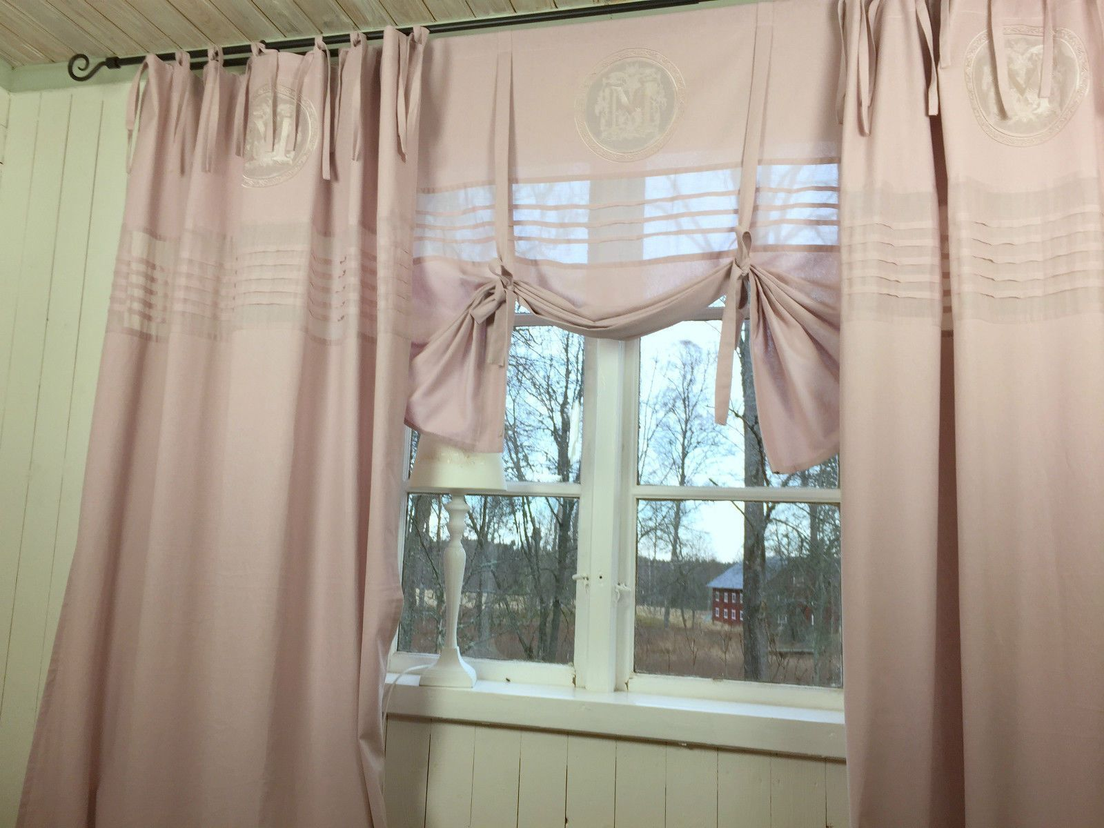 120x240 Old Pink Curtain Mathilde Mauve Pieces In 2020 Vorhange Landhaus Gardinen Gardinen