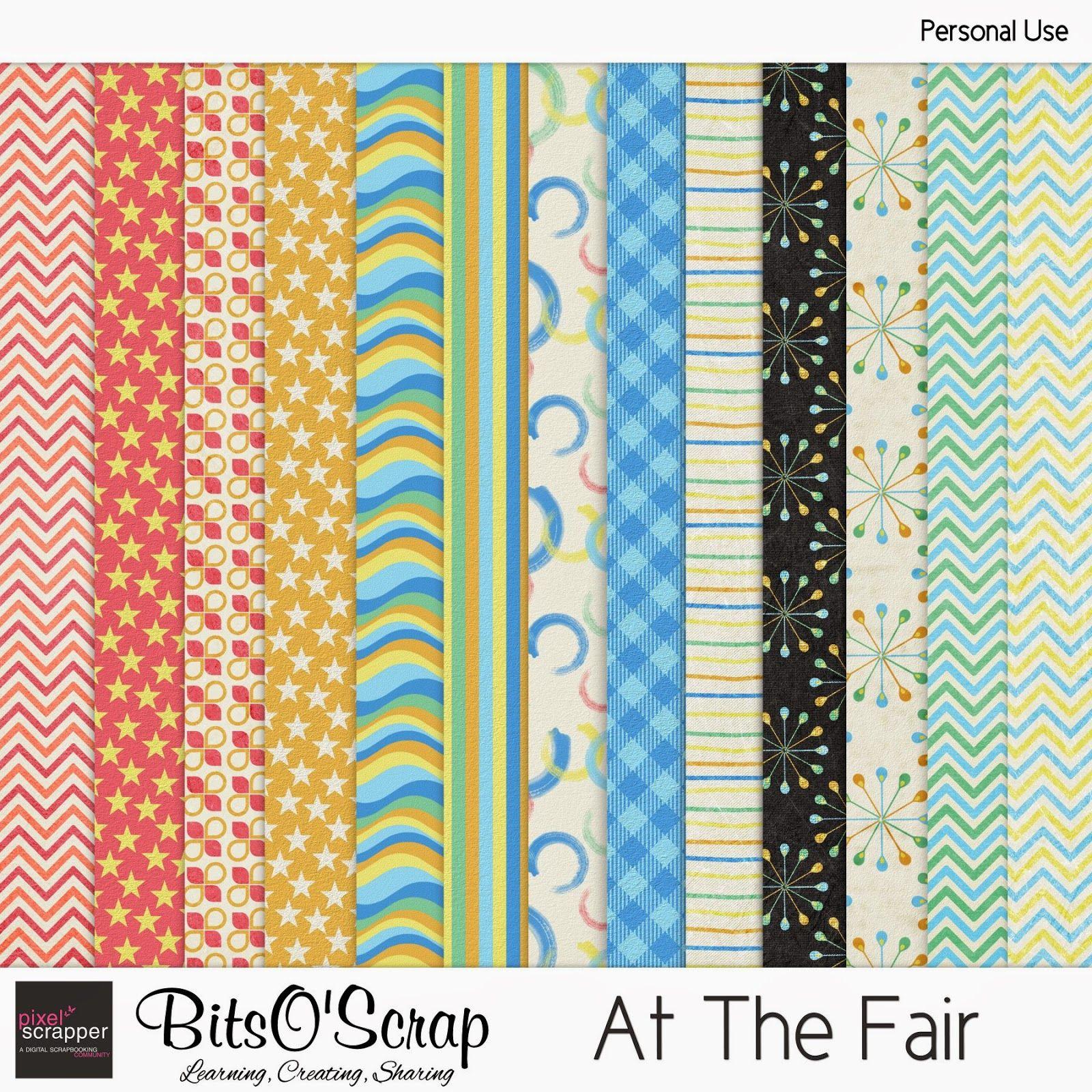 FREE Bits O'Scrap: Pixel Scrapper - At The Fair