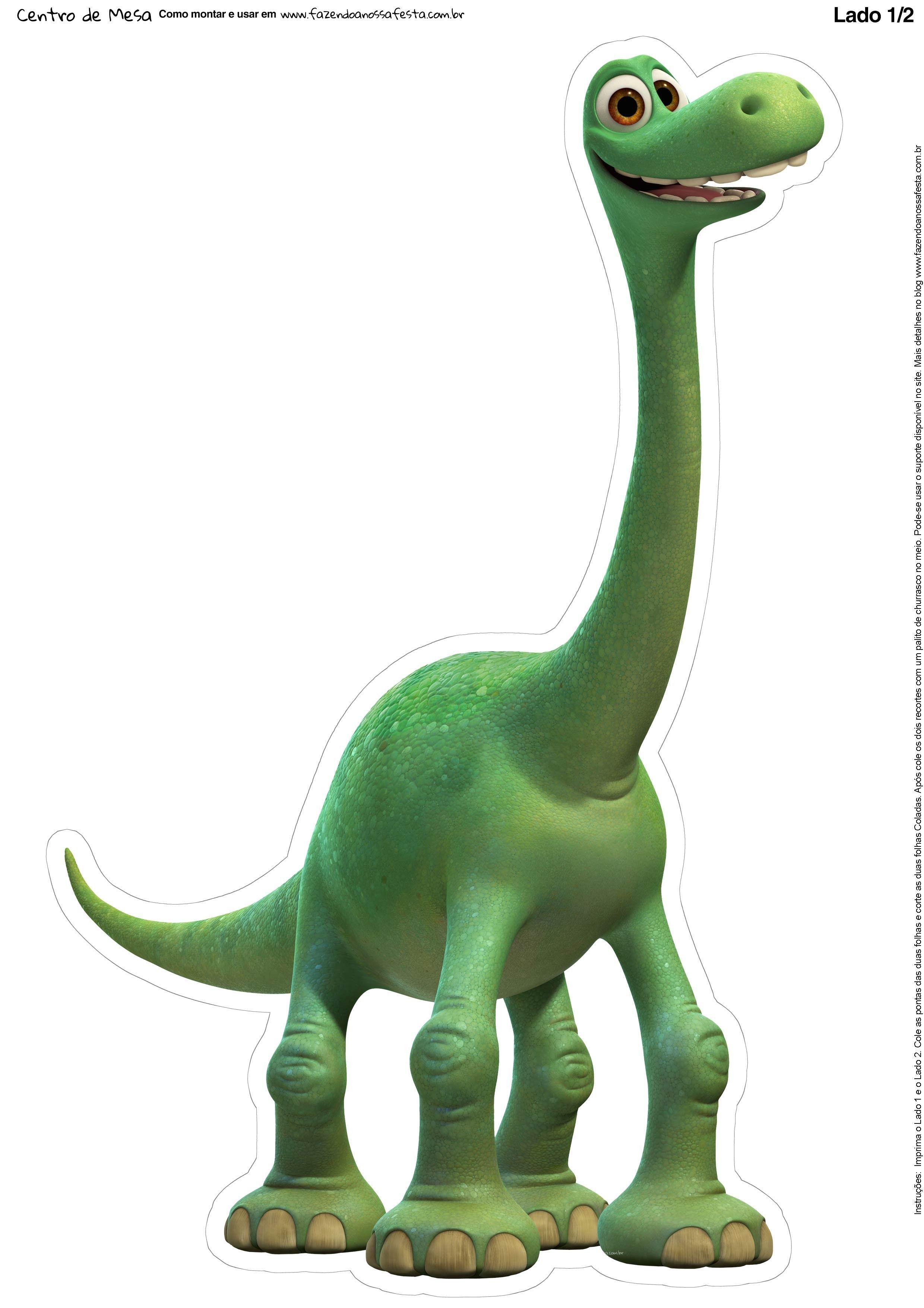 Totem De Mesa O Bom Dinossauro Frente O Bom Dinossauro O Bom