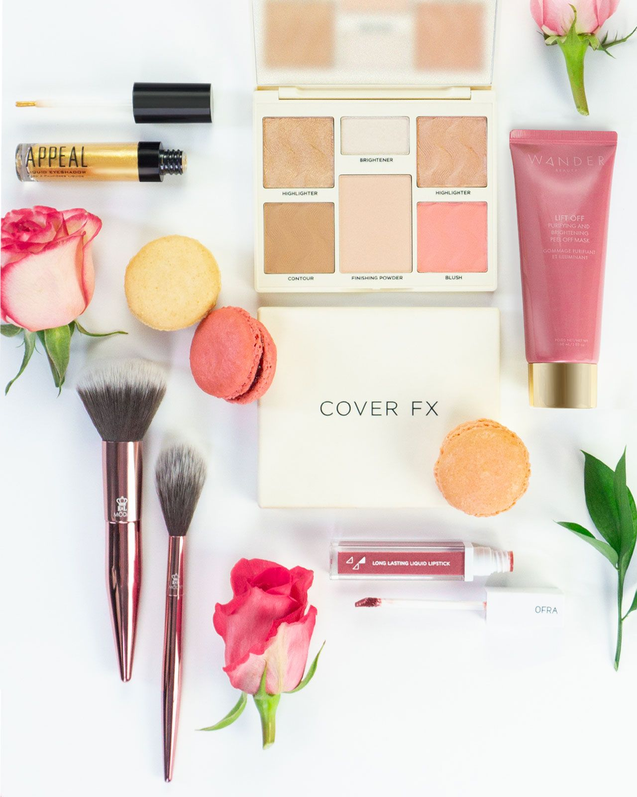 Cover FX Face Perfector Palette, Appeal Cosmetics Liquid