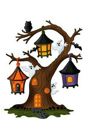 halloween tree clip art halloween 1 clipart pinterest rh pinterest com Halloween Owl Clip Art Halloween Tree with Leaves Clip Art