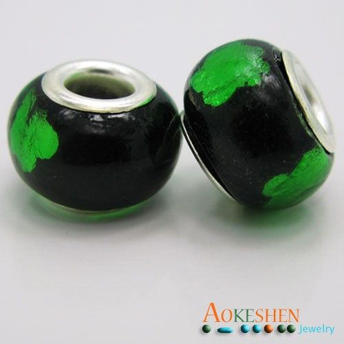 $1.39  Black Beads Lamp-work Millefiori European Glass Charms Green Dot Polished http://www.eozy.com/black-beads-lamp-work-millefiori-european-glass-charms-green-dot-polished