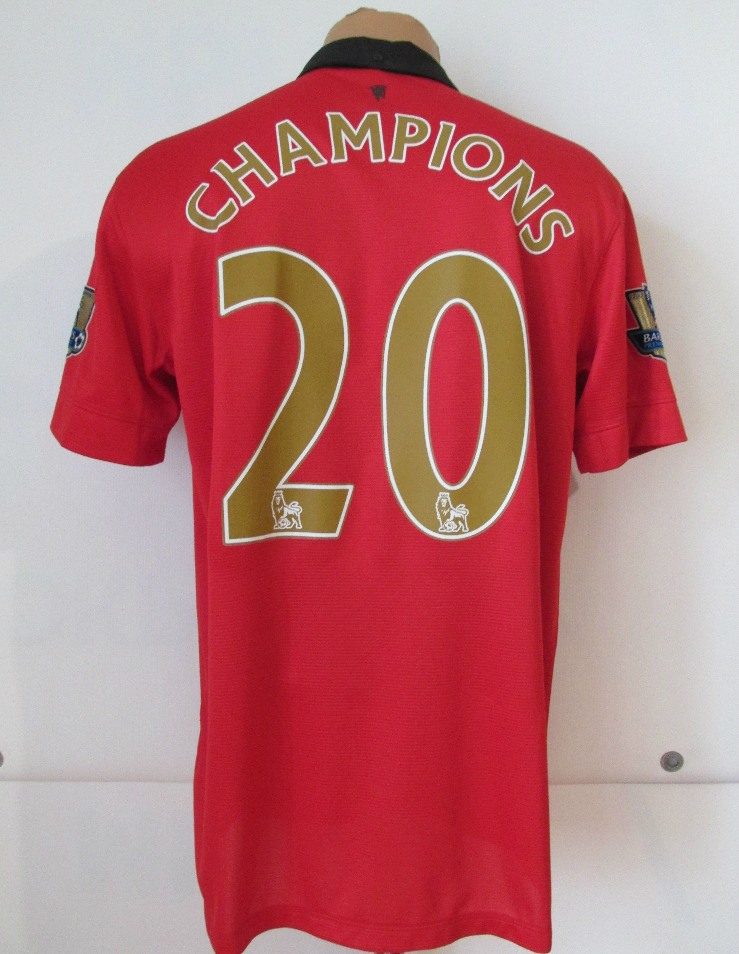 29465a51dc6 Manchester United 2013/2014 home champions football shirt by Nike ManUtd  MUFC PremierLeague soccer jersey #ManchesterUnited #MUFC #ManUnited  #champions ...